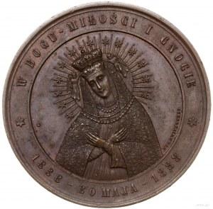 medal z 1888 r. autorstwa F. Witkowskiego, wybity na pa...