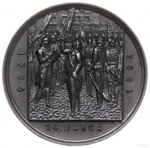 medal z 1894 r. autorstwa F. Wojtycha wykonany na pamią...