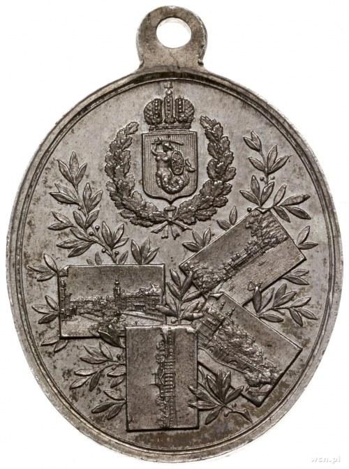 medalik z 1897 r. wybity z okazji wizyty carskiej rodzi...