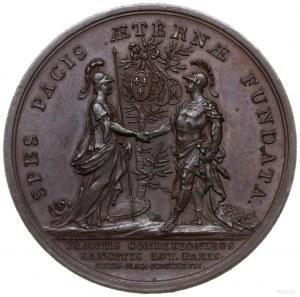 medal z 1727 r. autorstwa Jeana du Viviera, wybity z ok...