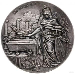 medal z 1898 r. autorstwa Lauera, wykonany z okazji śmi...