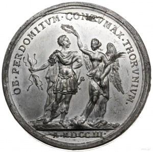medal z 1703 r. autorstwa Arvida Karlsteena, wybity z o...