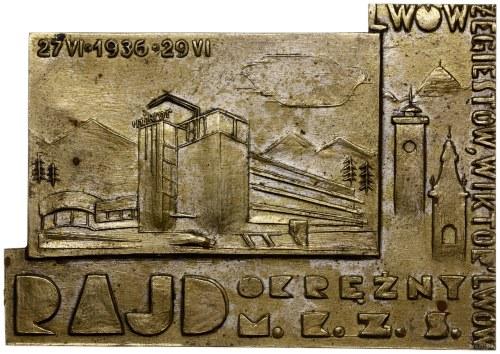 plakieta z rajdu okrężnego z 1936 r. na trasie Lwów - s...