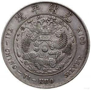 dolar bez daty (1908), Tientsin; Kann 216, KM Y#14; sre...