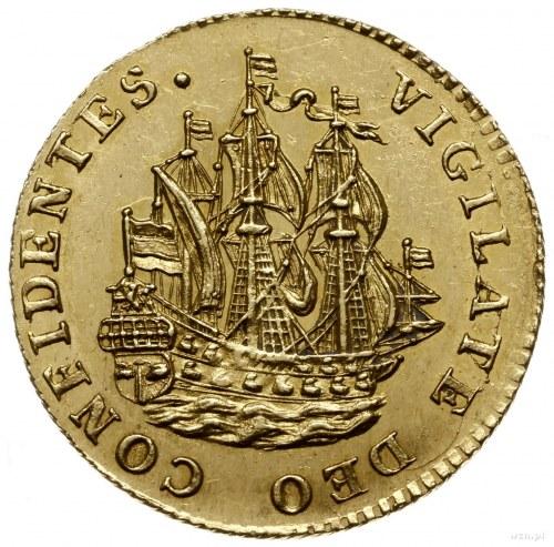 odbitka w złocie 6 stuberów (Sheepjesschellinga) 1766/4...