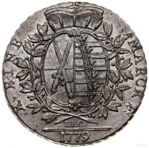 talar 1779 Drezno; z inicjałami IEC (Johann Ernst Croll...