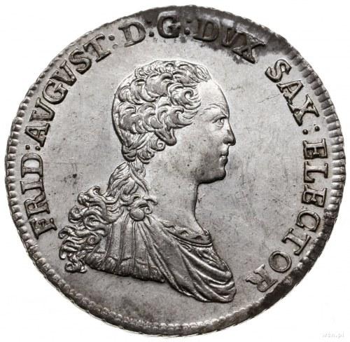 2/3 talara 1766, Drezno; z inicjałami EDC (Ernst Dietri...