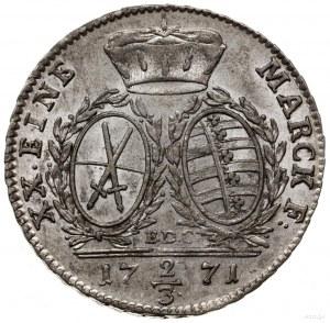 2/3 talara (gulden) 1771, Drezno; Buck 137, Kahnt 1103;...