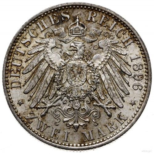 2 marki 1896 A, Berlin; AKS 41, Jaeger 20; nakład tylko...