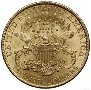 20 dolarów 1892 CC, Carson City; typ Liberty Head; Fr. ...