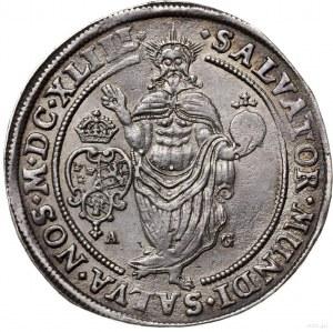 talar 1643, Sztokholm; Aw: Półpostać nieco w lewo i nap...