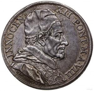 piastra (scudo), 1699, Rzym; Aw: Popiersie w prawo, wok...
