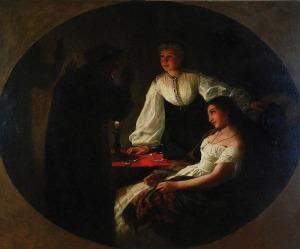 Henryk SIEMIRADZKI (1843-1902), Noc św. Andrzeja - Wróżbita, 1867