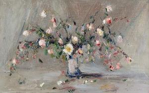 Włodzimierz TERLIKOWSKI (1873-1951), Róże w wazonie, 1922