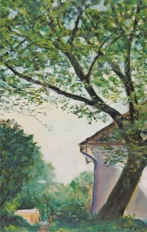 Aneri Irena Weissowa (1888-1981), Pejzaż z drzewem, 1970