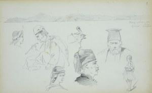 Stanisław Chlebowski (1835 – 1884), Szkice postaci z pejzażem w tle