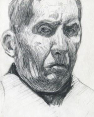 Stanisław Kamocki (1875 – 1944), Autoportret w górnym oświetleniu