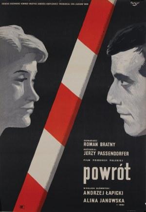 Wojciech Fangor (1922–2015), Plakat filmowy Powrót, 1960