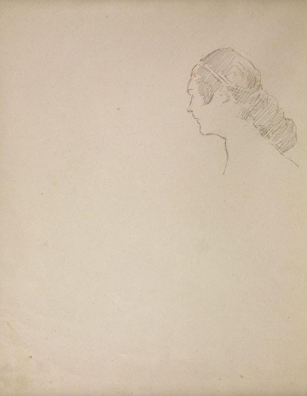Jacek Malczewski (1854-1929), Głowa młodej kobiety z lewego profilu (VIII.1925)
