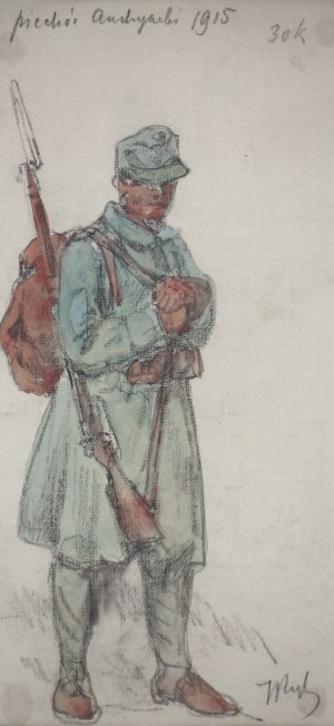 Tadeusz Rybkowski (1848-1926), Piechur austriacki, 1915