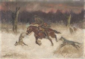 Jerzy Kossak (1886-1955), Napad wilków
