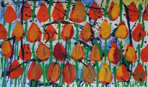 Edward Dwurnik, Czerwone tulipany(2015/1016)