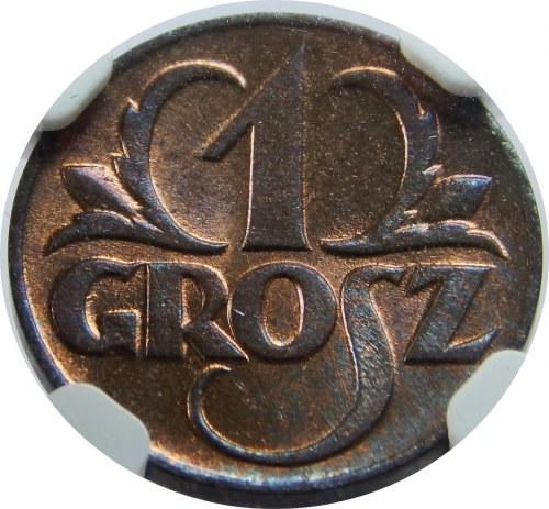 1 grosz 1923 NGC MS 66 RB