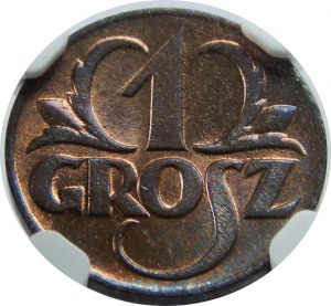 1 grosz 1923 NGC MS 66 RB