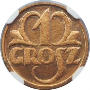 1 grosz 1933 NGC MS66 RD
