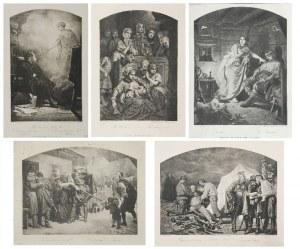 Artur GROTTGER (1837-1867), Zestaw pięciu grafik