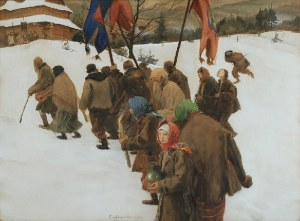 Teodor AXENTOWICZ (1859-1938), Święto Jordanu [Procesja Jordanu], ok. 1910