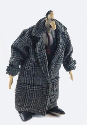 Paweł ALTHAMER (ur. 1967), Lalka - Pan w kraciastym płaszczu, lata 90. XX w.