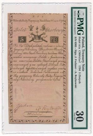 5 złotych 1794 N.C.1 - PMG 30