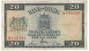 Gdańsk 20 guldenów 1937 seria K