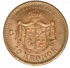 Szwecja 10 koron 1874 - Oskar II