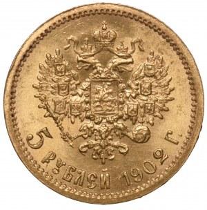 Rosja 5 rubli 1902