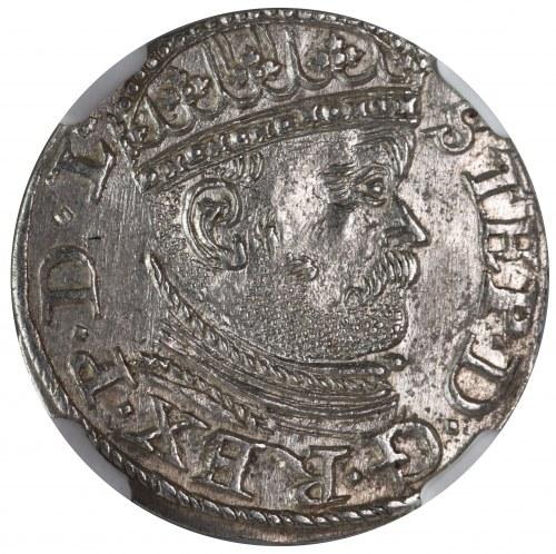 Stefan Batory, trojak 1586 Ryga NGC MS64