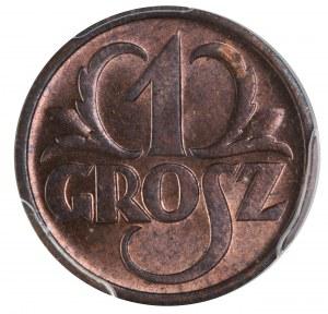 1 grosz 1937 PCGS MS64 RB