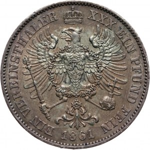 Niemcy, Prusy, Wilhelm I, talar 1861 A, Berlin