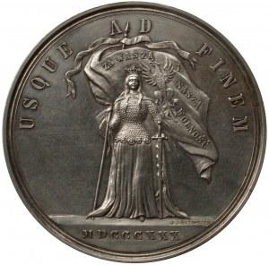 Medal 50 rocznica Powstania Listopadowego 1880 r. - autorstwa Artura Malinowskiego