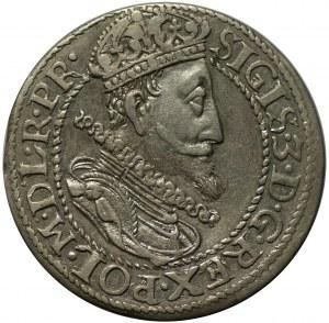 ort 1615, Gdańsk, na awersie duża głowa króla z płaską kryzą