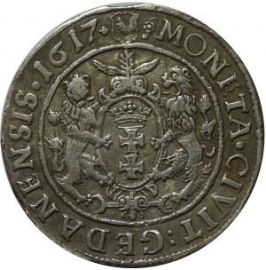 ort 1617, Gdańsk; z dwukropkiem i krzyżykiem na końcu napisu otokowego na awersie;