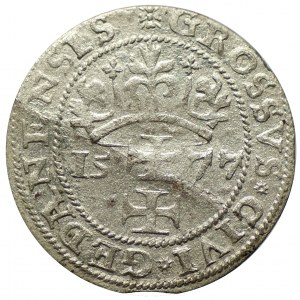 grosz 1577, Gdańsk, odmiana bez herbu Kawka