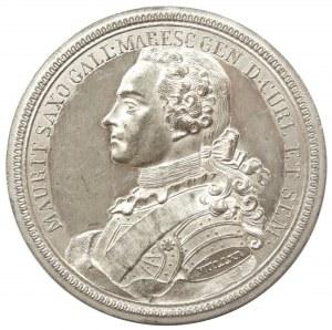 Maurycy Saski (nieślubny syn króla polskiego Augusta III), medal z 1750