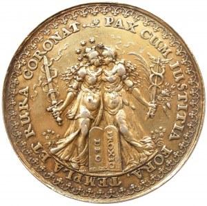 Medal autorstwa Sebastiana Dadlera i Jana Höhna sen. - rozejmu w Sztumskiej Wsi