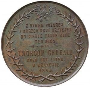 Kornel Ujejski i Józef Nikorowicz - medal wybity z okazji napisania chorału 1893