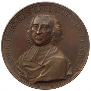 Medal z kardynałem Andre'-Hercule de Fleury z roku 1736