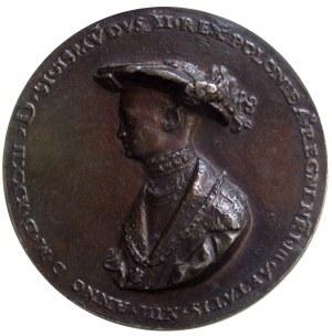 Medal z trzynastoletnim Zygmuntem II Augustem