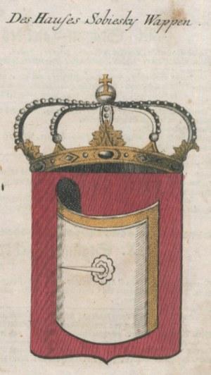 POLSKA. Karta przedstawiająca herb Jana III Sobieskiego, anonim, ok. ...