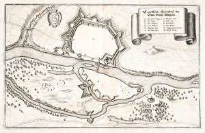 GŁOGÓW. Plan fortyfikacji miejskich, pochodzi z: Zeiller, Martin, To ...